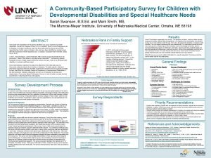 A CommunityBased Participatory Survey for Children with Developmental
