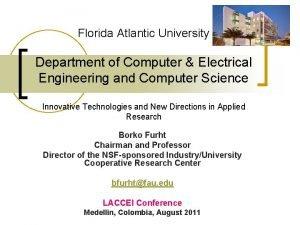 Florida Atlantic University Department of Computer Electrical Engineering