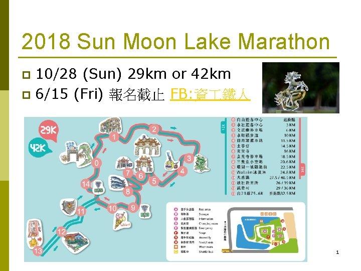 2018 Sun Moon Lake Marathon 1028 Sun 29