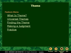 Theme Feature Menu What Is Theme Universal Themes