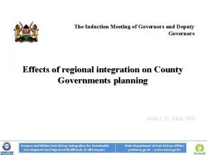 The Induction Meeting of Governors and Deputy Governors