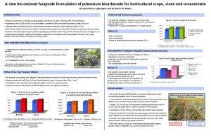 A new biorational fungicide formulation of potassium bicarbonate