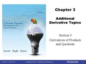 Chapter 3 Additional Derivative Topics Section 3 Derivatives