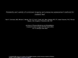 Reliability and validity of combined imaging and pressures