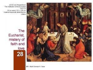 JOOS van Wassenhove The Institution of the Eucharist