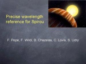 Precise wavelength reference for Spirou F Pepe F