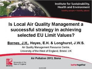 Is Local Air Quality Management a successful strategy