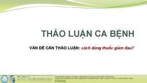 THO LUN CA BNH VN CN THO LUN