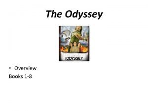 The Odyssey Overview Books 1 8 Book One