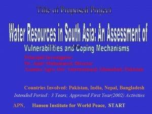 APN Principal Investigator Dr Amir Muhammed Director Asianics