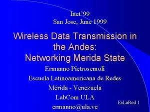 Inet 99 San Jose June 1999 Wireless Data