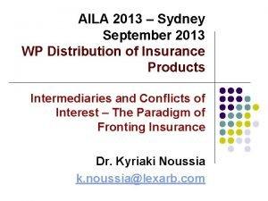 AILA 2013 Sydney September 2013 WP Distribution of