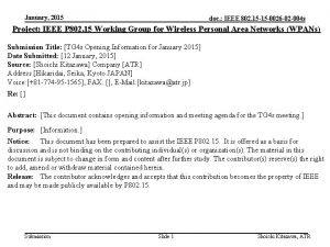 January 2015 doc IEEE 802 15 15 0026
