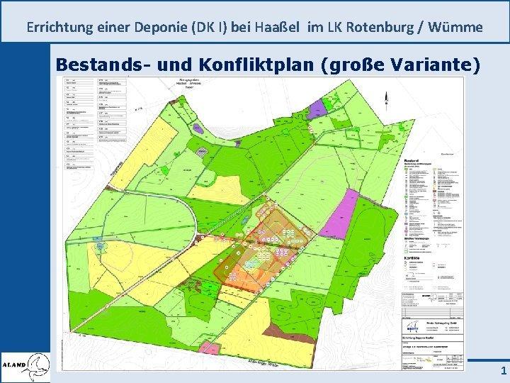 Errichtung einer Deponie DK I bei Haael im