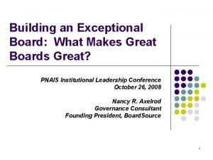 Building an Exceptional Board What Makes Great Boards