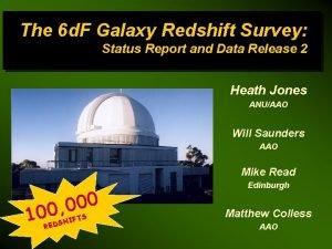 The 6 d F Galaxy Redshift Survey Status