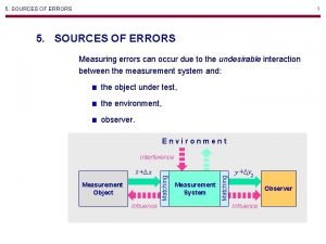 5 SOURCES OF ERRORS 1 5 SOURCES OF
