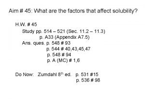 Aim 45 What are the factors that affect