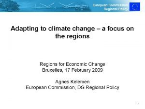 European Commission Regional Policy Adapting to climate change