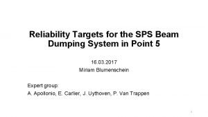 Reliability Targets for the SPS Beam Dumping System