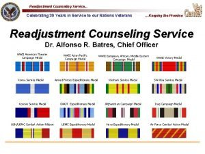 Readjustment Counseling Service Celebrating 30 Years in Service