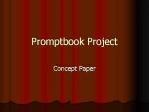 Promptbook Project Concept Paper Concept Paper Overview l