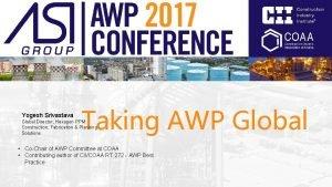Yogesh Srivastava Taking AWP Global Director Hexagon PPM