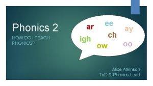 Phonics 2 HOW DO I TEACH PHONICS ar