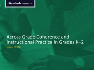 Across Grade Coherence and Instructional Practice in Grades