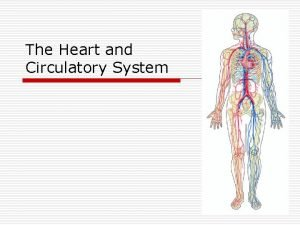 The Heart and Circulatory System Blood o Blood