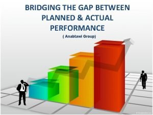 BRIDGING THE GAP BETWEEN PLANNED ACTUAL PERFORMANCE Anabtawi