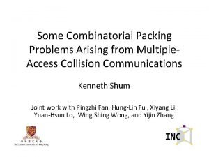 Some Combinatorial Packing Problems Arising from Multiple Access