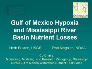 Gulf of Mexico Hypoxia and Mississippi River Basin
