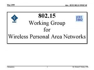 May 1999 doc IEEE 802 15 99017 r