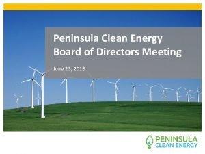 Peninsula Clean Energy Board of Directors Meeting June