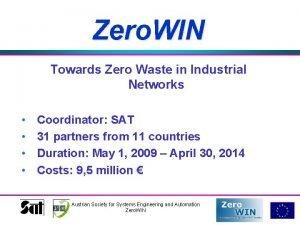 Zero WIN Towards Zero Waste in Industrial Networks