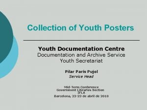 Collection of Youth Posters Youth Documentation Centre Documentation