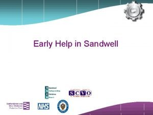 Early Help in Sandwell Defining Early Help Early