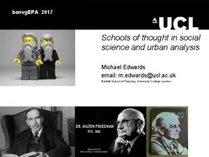benvg EPA 2017 Schools of thought in social