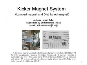 Kicker Magnet System Lumped magnet and Distributed magnet