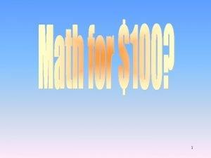1 Math Arithmetic Solve Do math 100 100