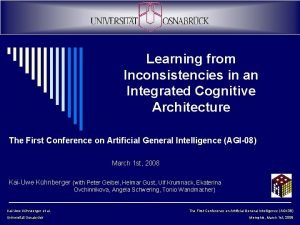 Learning from Inconsistencies in an Integrated Cognitive Architecture