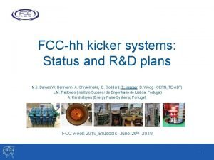 FCChh kicker systems Status and RD plans M