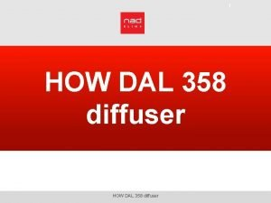 1 HOW DAL 358 diffuser HOW DAL 358