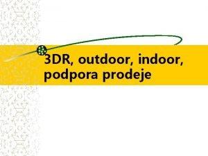 3 DR outdoor indoor podpora prodeje 3 D