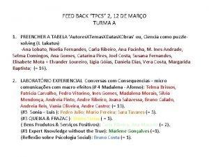 FEED BACK TPCS 2 12 DE MARO TURMA