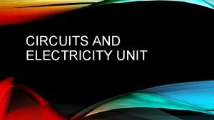 CIRCUITS AND ELECTRICITY UNIT ATOM An atom is