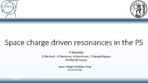 Space charge driven resonances in the PS F