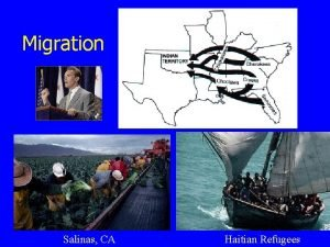 Migration Salinas CA Haitian Refugees Why do people