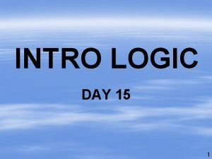 INTRO LOGIC DAY 15 1 UNIT 3 Translations